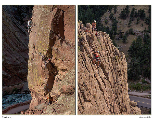 Photos have to speak for themselves. The subject, like these climbers, have to be obvious. Colorado wildlife tours.