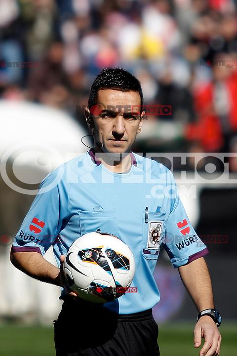 Referee Pedro Jesus Perez Montero during La Liga  match. February 24,2013.(ALTERPHOTOS/Alconada)