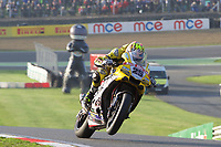 Josh Brookes of Anvil Hire Tag Racing on his way to winning the Final of the MCE British Superbikes in Association with Pirelli round 12 2017 - BRANDS HATCH (GP) at Brands Hatch, Longfield, England on 15 October 2017. Photo by Alan  Stanford / PRiME Media Images.
