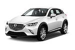 2015 Mazda CX-5 Skycruise 5 Door Suv Angular Front stock photos of front three quarter view
