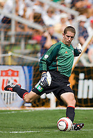DC United's goalkeeper Troy Perkins during the Hall of Fame Game following the National Soccer Hall of Fame induction ceremony. Wright Soccer Campus, Oneonta, NY, on August  29, 2005.