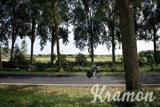 Audrey Cordon-Ragot (FRA/Trek-Segafredo)<br /> <br /> Women Elite Individual Time Trial from Knokke-Heist to Bruges (30.3 km)<br /> <br /> UCI Road World Championships - Flanders Belgium 2021<br /> <br /> ©kramon