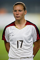 Lori Chalupny. The US lost to Norway, 2-0, during first round play at the 2008 Beijing Olympics in Qinhuangdao, China.