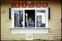 Kiosk at a truckstop in La Esperanza in Patagonia.<br /> 24.10.2000, La Esperanza<br /> Copyright: Christian-Ditsch.de<br /> [Inhaltsveraendernde Manipulation des Fotos nur nach ausdruecklicher Genehmigung des Fotografen. Vereinbarungen ueber Abtretung von Persoenlichkeitsrechten/Model Release der abgebildeten Person/Personen liegen nicht vor. NO MODEL RELEASE! Nur fuer Redaktionelle Zwecke. Don't publish without copyright Christian-Ditsch.de, Veroeffentlichung nur mit Fotografennennung, sowie gegen Honorar, MwSt. und Beleg. Konto: I N G - D i B a, IBAN DE58500105175400192269, BIC INGDDEFFXXX, Kontakt: post@christian-ditsch.de<br /> Urhebervermerk wird gemaess Paragraph 13 UHG verlangt.]