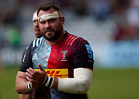 29th May 2021; Twickenham Stoop, London, England; English Premiership Rugby, Harlequins versus Bath; Collier of Harlequins thanking fans on the post game walk round