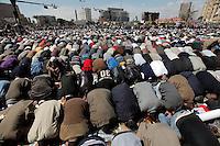 Friday prayers at Tahrir square.