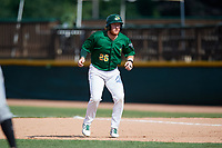 Beloit Snappers designated hitter Hunter Hargrove (26) leads off first base during a game against the Dayton Dragons on July 22, 2018 at Pohlman Field in Beloit, Wisconsin.  Dayton defeated Beloit 2-1.  (Mike Janes/Four Seam Images)