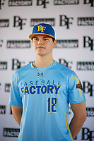 Jimmy Obertop (18) of Westminster Christian Academy in St. Louis, Missouri during the Baseball Factory All-America Pre-Season Tournament, powered by Under Armour, on January 12, 2018 at Sloan Park Complex in Mesa, Arizona.  (Zachary Lucy/Four Seam Images)