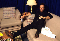 """Bob Weir of The Grateful Dead relaxes backstage before a concert in Oakland.     Weir will reunite with the remaining members of the band will reunite for the final time for the """"Fare Thee Well"""" concerts  over July 4th weekend in 2015."""