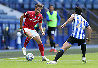 Nottingham Forest's Matty Cash under pressure from Sheffield Wednesday's Massimo Luongo<br /> <br /> Photographer Rich Linley/CameraSport<br /> <br /> The EFL Sky Bet Championship - Sheffield Wednesday v Nottingham Forest - Saturday 20th June 2020 - Hillsborough - Sheffield <br /> <br /> World Copyright © 2020 CameraSport. All rights reserved. 43 Linden Ave. Countesthorpe. Leicester. England. LE8 5PG - Tel: +44 (0) 116 277 4147 - admin@camerasport.com - www.camerasport.com