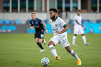 SAN JOSE, CA - SEPTEMBER 16: Eryk Williamson #30 of the Portland Timbers controls the ball during a game between Portland Timbers and San Jose Earthquakes at Earthquakes Stadium on September 16, 2020 in San Jose, California.
