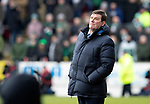 St Johnstone v Celtic…03.02.19…   McDiarmid Park    SPFL<br />Saints boss Tommy Wright<br />Picture by Graeme Hart. <br />Copyright Perthshire Picture Agency<br />Tel: 01738 623350  Mobile: 07990 594431