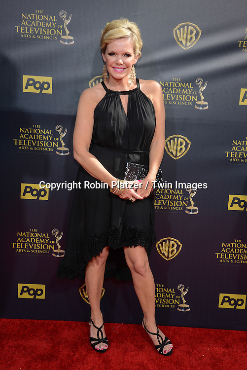 Maura West attends the 42nd Annual Daytime Emmy Awards on April 26th, 2015 at the Warner Bros. Studio in Burbank, California, USA.  <br /> <br /> Photo by Robin Platzer / Twin Images<br /> 212-935-0770