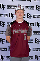 William Burbank (6) of Monsignor Kelly Catholic High School in Beaumont, Texas during the Baseball Factory All-America Pre-Season Tournament, powered by Under Armour, on January 12, 2018 at Sloan Park Complex in Mesa, Arizona.  (Mike Janes/Four Seam Images)