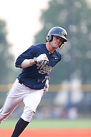 First overall draft pick in the 2015 Major League Baseball Player Draft, Dansby Swanson (7) of the Hillsboro Hops runs the bases during a game against the Boise Hawks at Ron Tonkin Field on August 22, 2015 in Hillsboro, Oregon. Boise defeated Hillsboro, 6-4. (Larry Goren/Four Seam Images)
