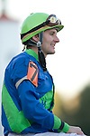 Omaha, NE native Terry Thompson rode Native Ruler (7) to victory in the 61st King Cotton Stakes at Oaklawn Park in Hot Springs, AR.