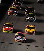 Feb 07, 2009; Daytona Beach, FL, USA; NASCAR Sprint Cup Series driver Jamie McMurray leads the field during the Bud Shootout at Daytona International Speedway. Mandatory Credit: Mark J. Rebilas-