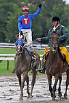 29 August 2009: Summer Bird and jockey Kent Desormeaux after winning The Travers Stakes at Saratoga Race Track in Saratoga Springs, New York
