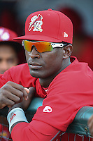 Palm Beach Cardinals outfielder Ronald Castillo (47) before a game against the Lakeland Flying Tigers on April 13, 2015 at Joker Marchant Stadium in Lakeland, Florida.  Palm Beach defeated Lakeland 4-0.  (Mike Janes/Four Seam Images)