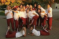 2005-2006 water polo team photo for the Sports Cafe. Not in order.  Katie Hansen, Lauren Silver, Meridith McColl, Jessica Steffens, Jenna Scalmanini, Christina Hewko. Koree Blyleven, Nancy El-Sakkary, Laurel Champion, Scotti Shafer, Alison Gregorka. Heather West, Megan May, Megan Nesland, Kira Hillman, Jacquelyn Gauthier.