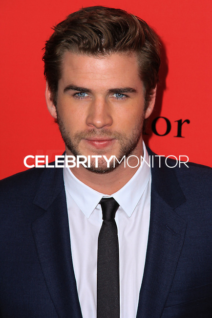 """NEW YORK, NY - NOVEMBER 20: Liam Hemsworth at the New York Premiere Of Lionsgate's """"The Hunger Games: Catching Fire"""" held at AMC Lincoln Square Theater on November 20, 2013 in New York City. (Photo by Jeffery Duran/Celebrity Monitor)"""