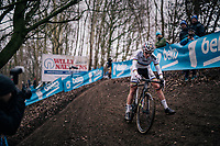 this wasn't the best of races for CX World Champion Sanne Cant (BEL/IKO-Beobank) > she would eventually finish 7th  <br /> <br /> Brussels Universities Cyclocross (BEL) 2019<br /> Women's Race<br /> DVV Trofee<br /> ©kramon