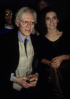 Warhol Trudeau3743.JPG<br /> New York, NY 1978 FILE PHOTO<br /> Andy Warhol & Margaret Trudeau; Studio 54<br /> Digital photo by Adam Scull-PHOTOlink.net<br /> ONE TIME REPRODUCTION RIGHTS ONLY<br /> NO WEBSITE USE WITHOUT AGREEMENT<br /> 718-487-4334-OFFICE  718-374-3733-FAX