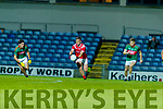 Mike Breen, Mid Kerry in action against Darragh Roche, East Kerry during the Kerry County Senior Football Championship Final match between East Kerry and Mid Kerry at Austin Stack Park in Tralee on Saturday night.