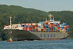 Cosco Cargo Ship on the Columbia River