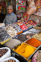 India, Dehradun.   Spice Vendor.