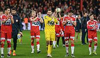 KV Kortrijk - Club Brugge : de Kortrijk-spelers bedanken de fans na de wedstrijd <br /> Foto VDB / Bart Vandenbroucke