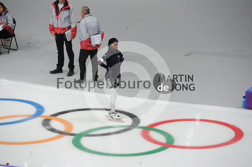 OLYMPIC GAMES: PYEONGCHANG: 18-02-2018, Gangneung Oval, Long Track, 500m Ladies, Erin Jackson (USA), ©photo Martin de Jong