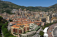 "View on the Principality of Monaco, Mediterranean Sea. The photo shows La Condamine ward. The Monte Carlo ward is the principal residential and resort area with the casino. The picture has been taken from the place in front of The Palace in Monaco-Ville ward the old city which is on a rocky promontory known as Rock of Monaco (in French ""Le Rocher""). Monaco is the second smallest country in the world after Vatican City."