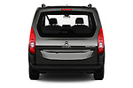 Straight rear view of a 2019 Citroen Berlingo Feel 5 Door MPV stock images
