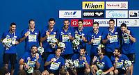Team GREECE bronze medal<br /> CROATIA vs SERBIA<br /> CRO vs SRB<br /> Waterpolo - Men's final <br /> Day 16 08/08/2015<br /> XVI FINA World Championships Aquatics Swimming<br /> Kazan Tatarstan RUS July 24 - Aug 9 2015 <br /> Photo Giorgio Perottino/Deepbluemedia/Insidefoto