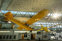 Aircraft hang in the atrium at UAA's Aviation Technology campus on Merrill Field.