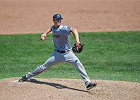 23 June 2019: Trenton Thunder pitcher Brian Keller on the mound against the New Hampshire Fisher Cats at Northeast Delta Dental Stadium in Manchester, NH. The Thunder defeated the Fisher Cats 5-2 in Eastern League play. Mandatory Credit: Ed Wolfstein Photo *** RAW (NEF) Image File Available ***