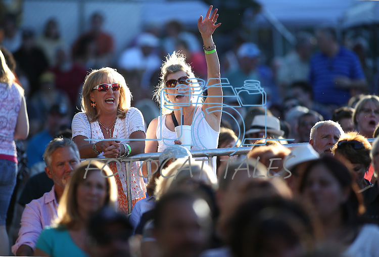 Michelle King and Paula Cobb enjoy the 8th Annual Concert Under the Stars in Carson City, Nev., on Thursday, July 14, 2016.<br />Photo by Cathleen Allison