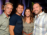 From left: Phillip Broomhead, Kirk Waltz, Tessa Waltz and Trey Gillen at the Simon Fashion Now event at the Houston Galleria Thursday Sept. 6,2012.(Dave Rossman photo)