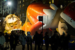 NEW YORK, NY – NOVEMBER 21: Hundreds of people visited the balloons of the annual Macy's Thanksgiving Day Parade the night before of parade on November 21, 2018 in New York City. (Photo by Pablo Monsalve /VIEWPress)