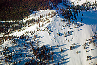 aerial photograph of snow covered mountainside South Lake Tahoe, California