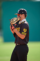 Drew Tyndall (5) during the WWBA World Championship at Terry Park on October 11, 2020 in Fort Myers, Florida.  Drew Tyndall, a resident of Wilmington, North Carolina who attends Eugene Ashley High School, is committed to UNC-Charlotte.  (Mike Janes/Four Seam Images)