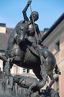 Tschechien, Prag, Hradschin, Standbild von St. Georg, Unesco-Weltkulturerbe