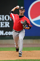 Tri-City Valley Cats pitcher Brady Rodgers #21 prior to a game versus the Lowell Spinners at LeLacheur Park In Lowell, Massachusetts on July 1, 2012.   (Ken Babbitt/Four Seam Images)