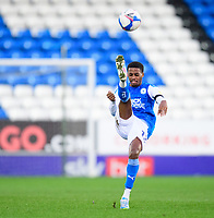 Peterborough United's Reece Brown<br /> <br /> Photographer Chris Vaughan/CameraSport<br /> <br /> The EFL Sky Bet League One - Peterborough United v Blackpool - Saturday 21st November 2020 - London Road Stadium - Peterborough<br /> <br /> World Copyright © 2020 CameraSport. All rights reserved. 43 Linden Ave. Countesthorpe. Leicester. England. LE8 5PG - Tel: +44 (0) 116 277 4147 - admin@camerasport.com - www.camerasport.com