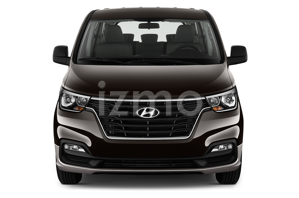 Car photography straight front view of a 2019 Hyundai H1-People Executive 5 Door Mini Van