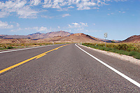 US 50 in Nevada near Westgate. Known as the Loneliest Road in America the route followed by US 50 in Nevada was roughly the same as that of the Pony Express Trail and the Lincoln Highway that preceeded it. Photographed 08/07