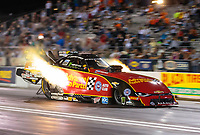 Sep 21, 2018; Madison, IL, USA; NHRA funny car driver Courtney Force during qualifying for the Midwest Nationals at Gateway Motorsports Park. Mandatory Credit: Mark J. Rebilas-USA TODAY Sports