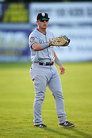 Staten Island Yankees Dalton Blaser (22) during warmups before a game against the Batavia Muckdogs on August 27, 2016 at Dwyer Stadium in Batavia, New York.  Staten Island defeated Batavia 13-10 in eleven innings.  (Mike Janes/Four Seam Images)