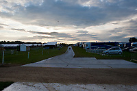 """""""RIDERS LORRY PARK AND STABLES""""  I can't go any further in than this with my Canons... 2012 GBR-Bramham International Horse Trial: Wednesday Set Up and a quick look around the grounds..."""